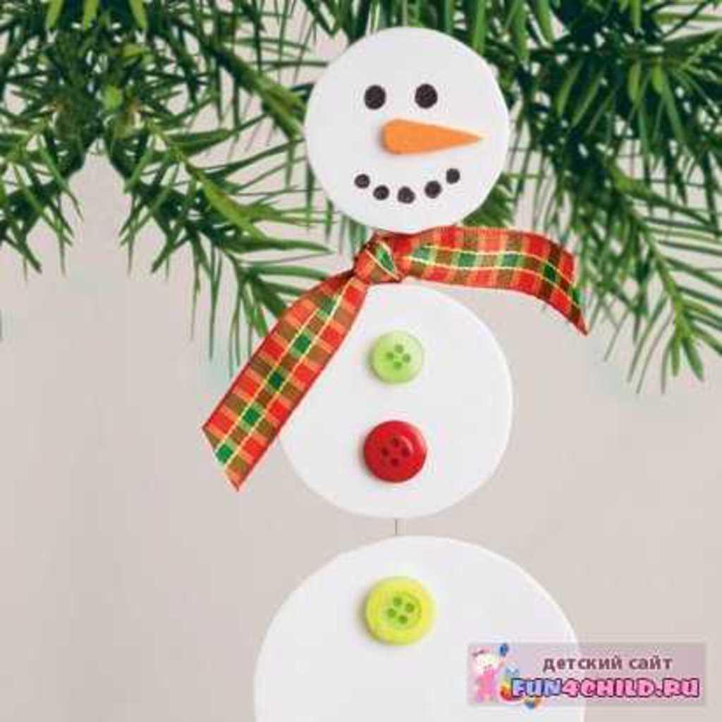 Снеговики на ёлку своими руками